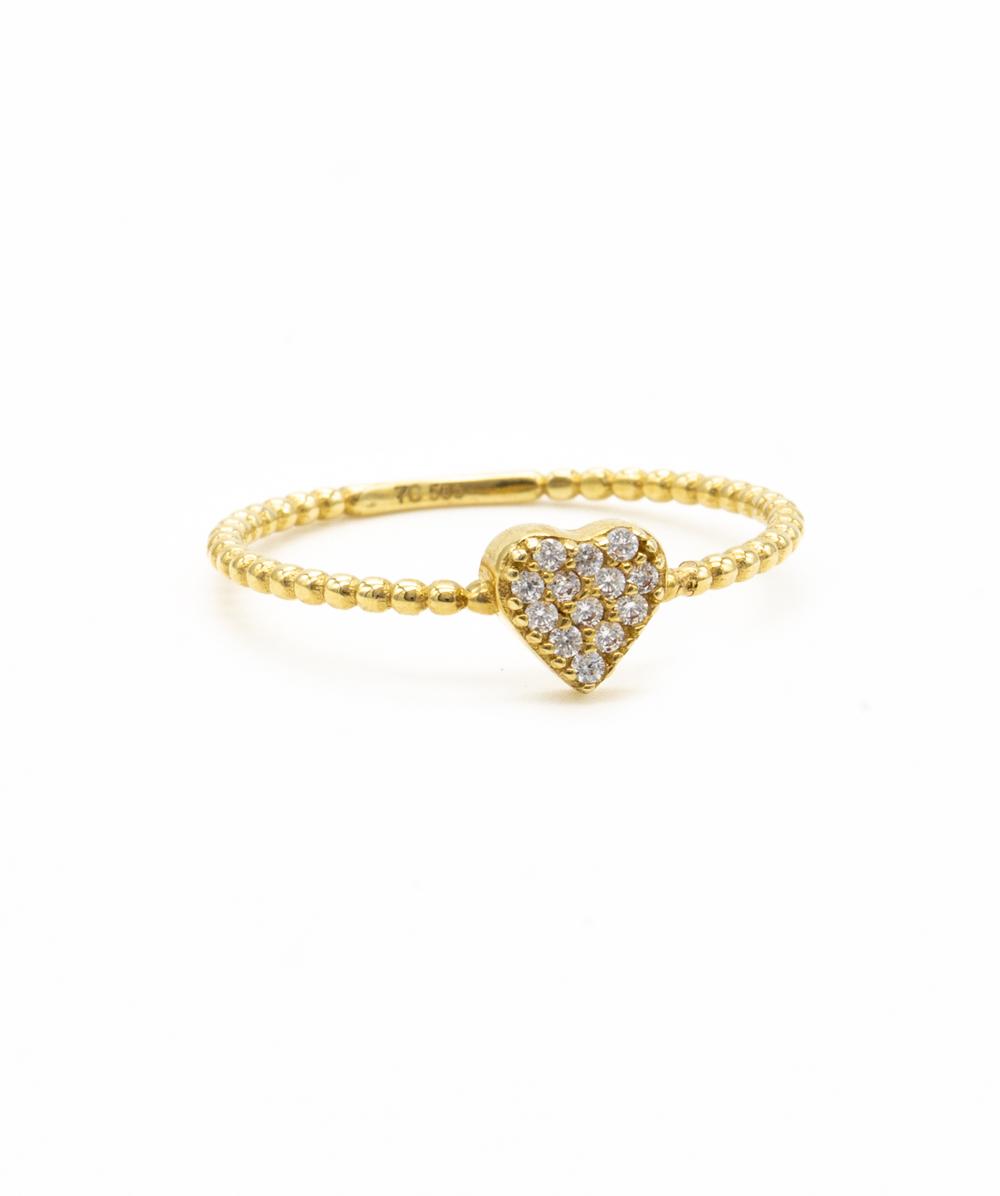 Ring  Zirkonia 585er Gold