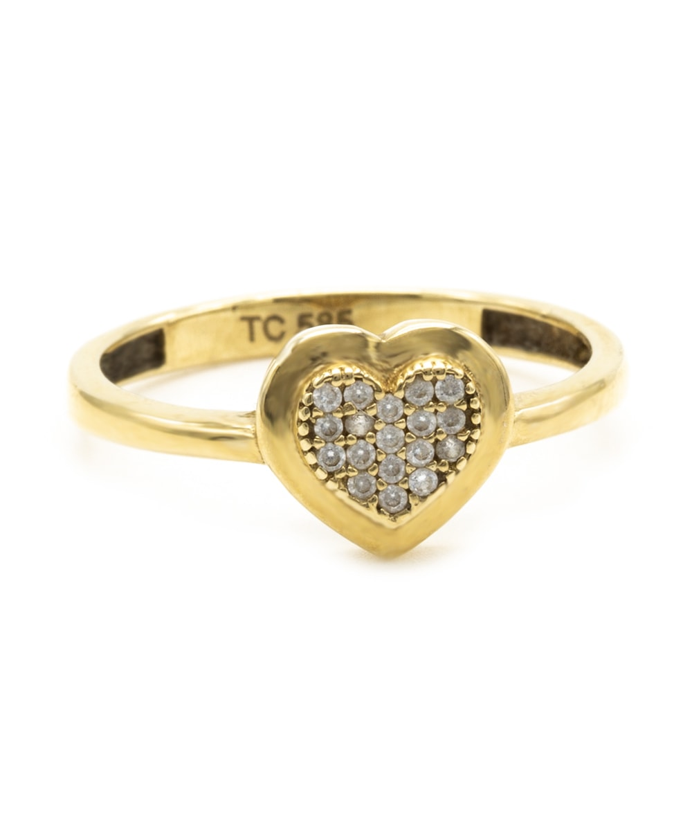 Ring Herz Zirkonia 585er Gold