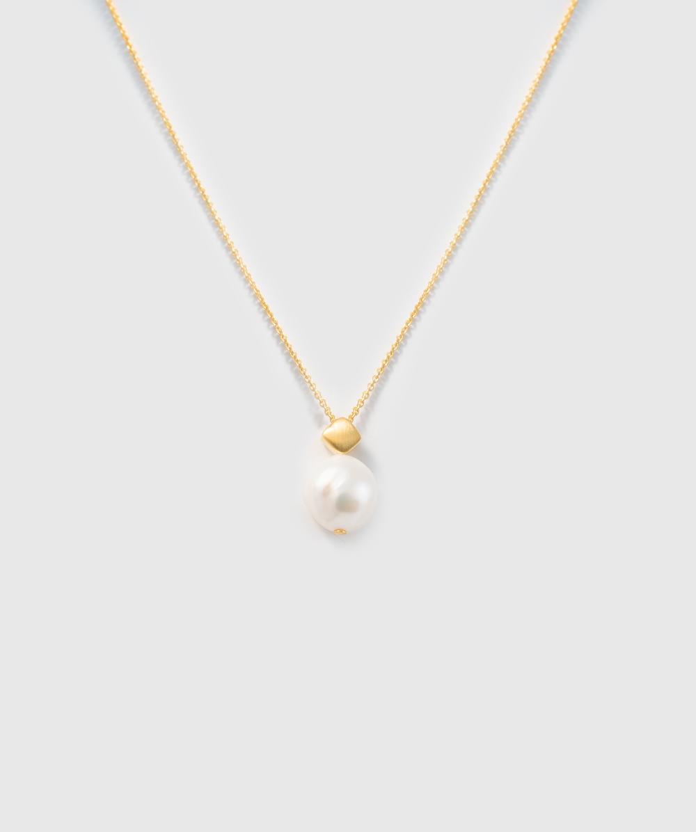 Perlenkette 925er Silbervergoldet