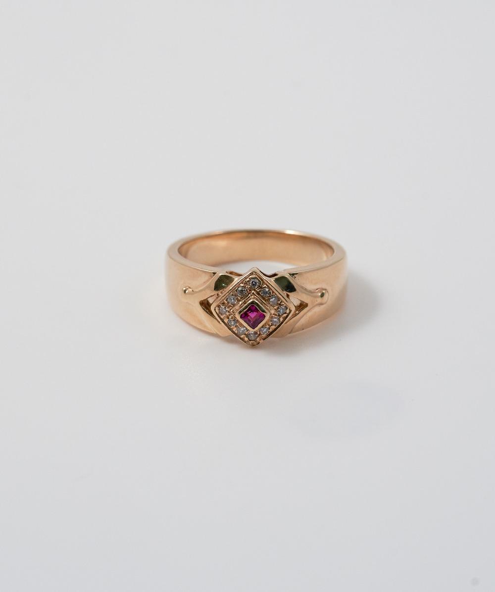 Ring Schmuckstein Diamanten 585er Gelbgold