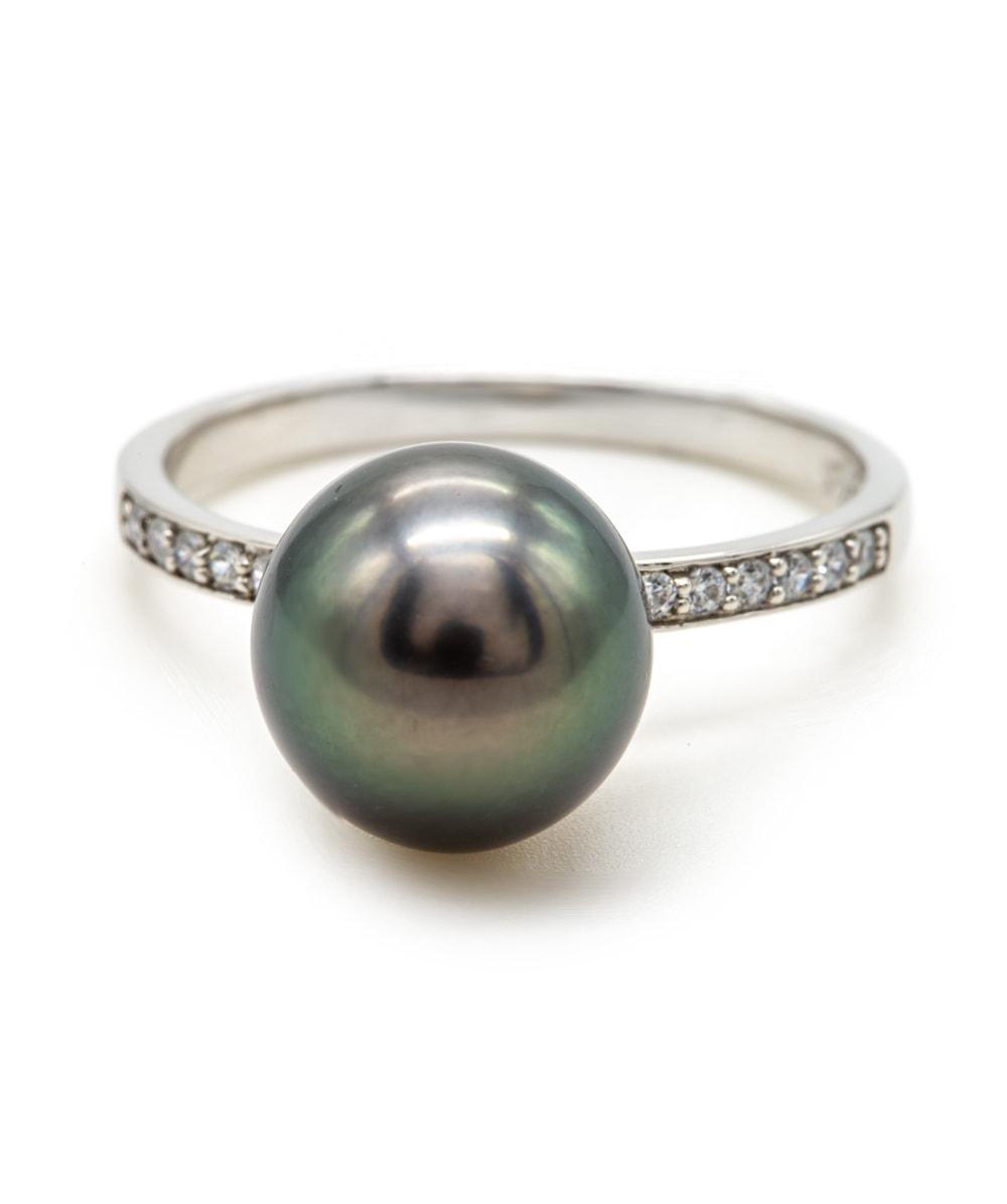 Ring Tahiti-Perle mit Zirkonia 925er Silber