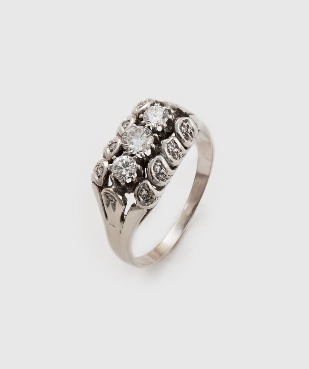 Ring Brillant Diamant 585er Weißgold