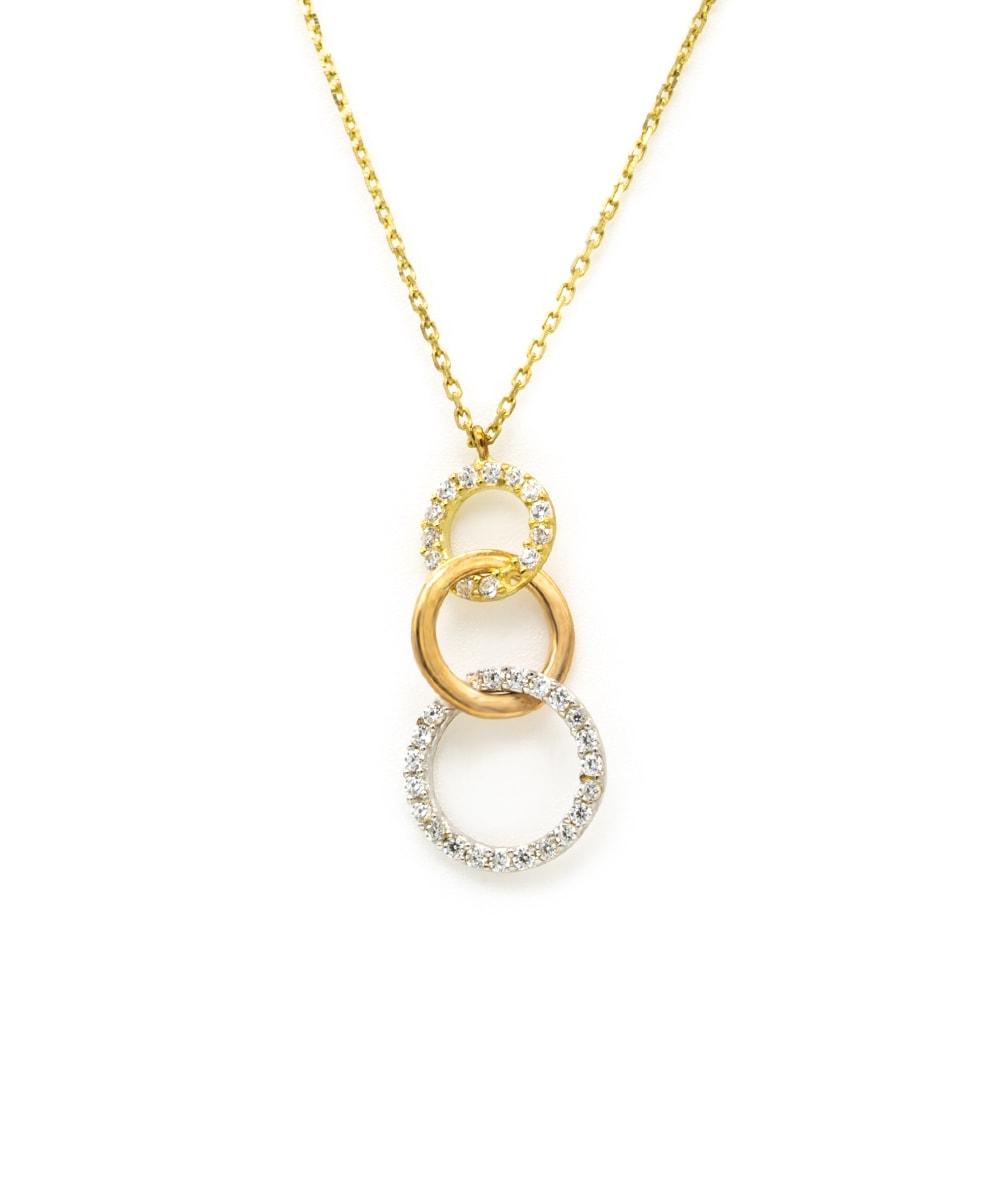 Halskette Zikonia 333er Gold tricolor