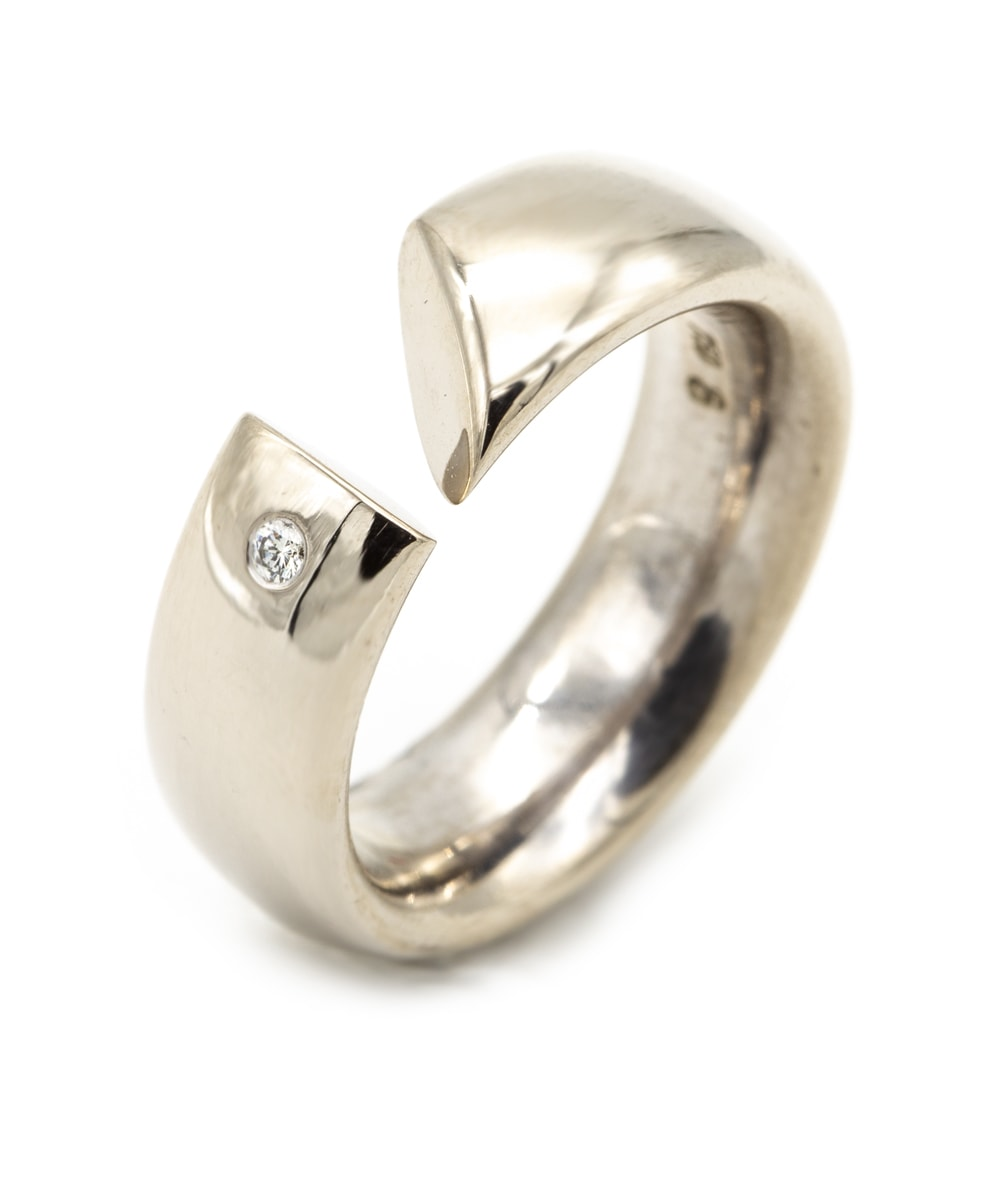 Ring mit Brillantsolitär 750er Weißgold