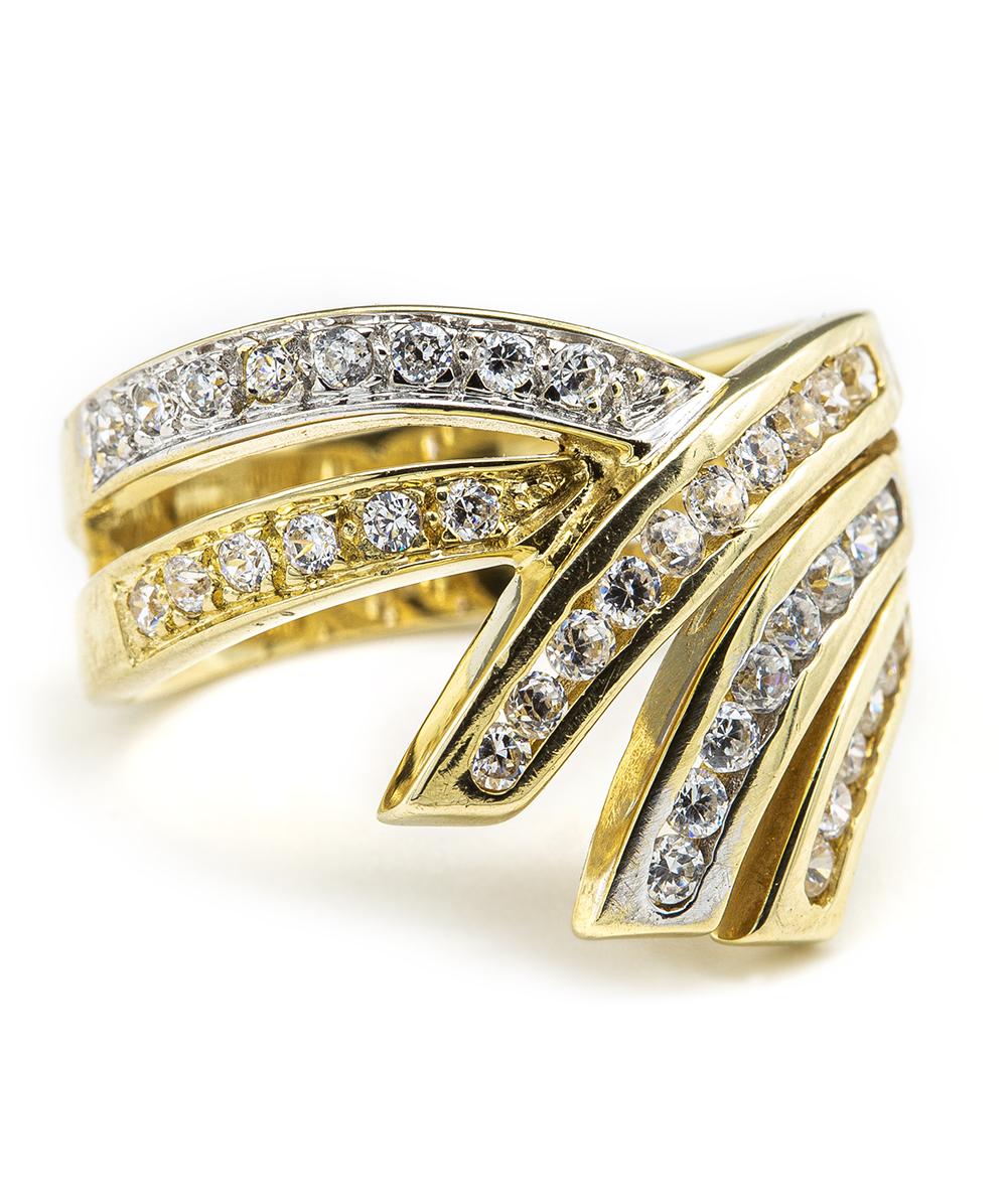 Ring mit Zirkonia 585er Gold