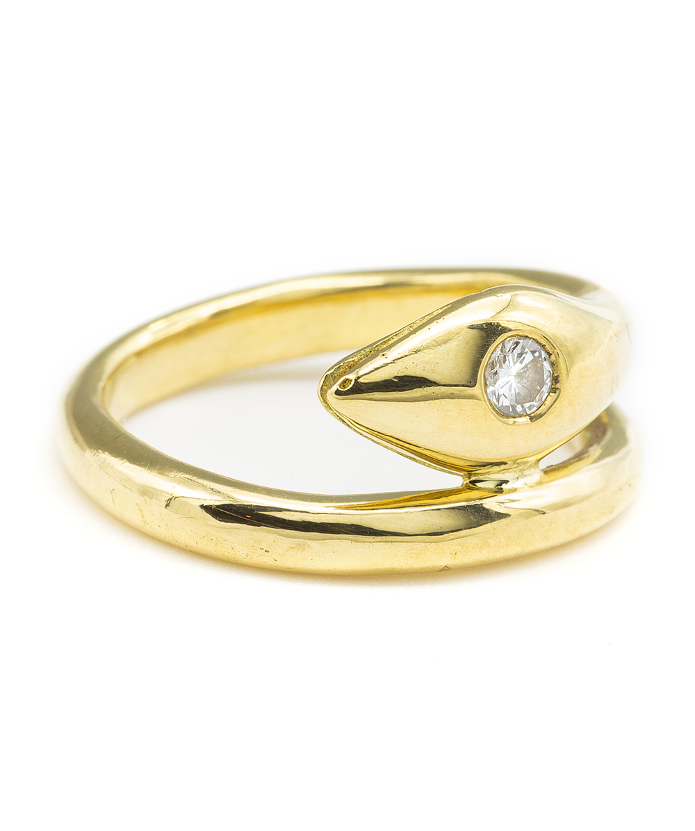 Ring mit einem Brillant 750er Gold