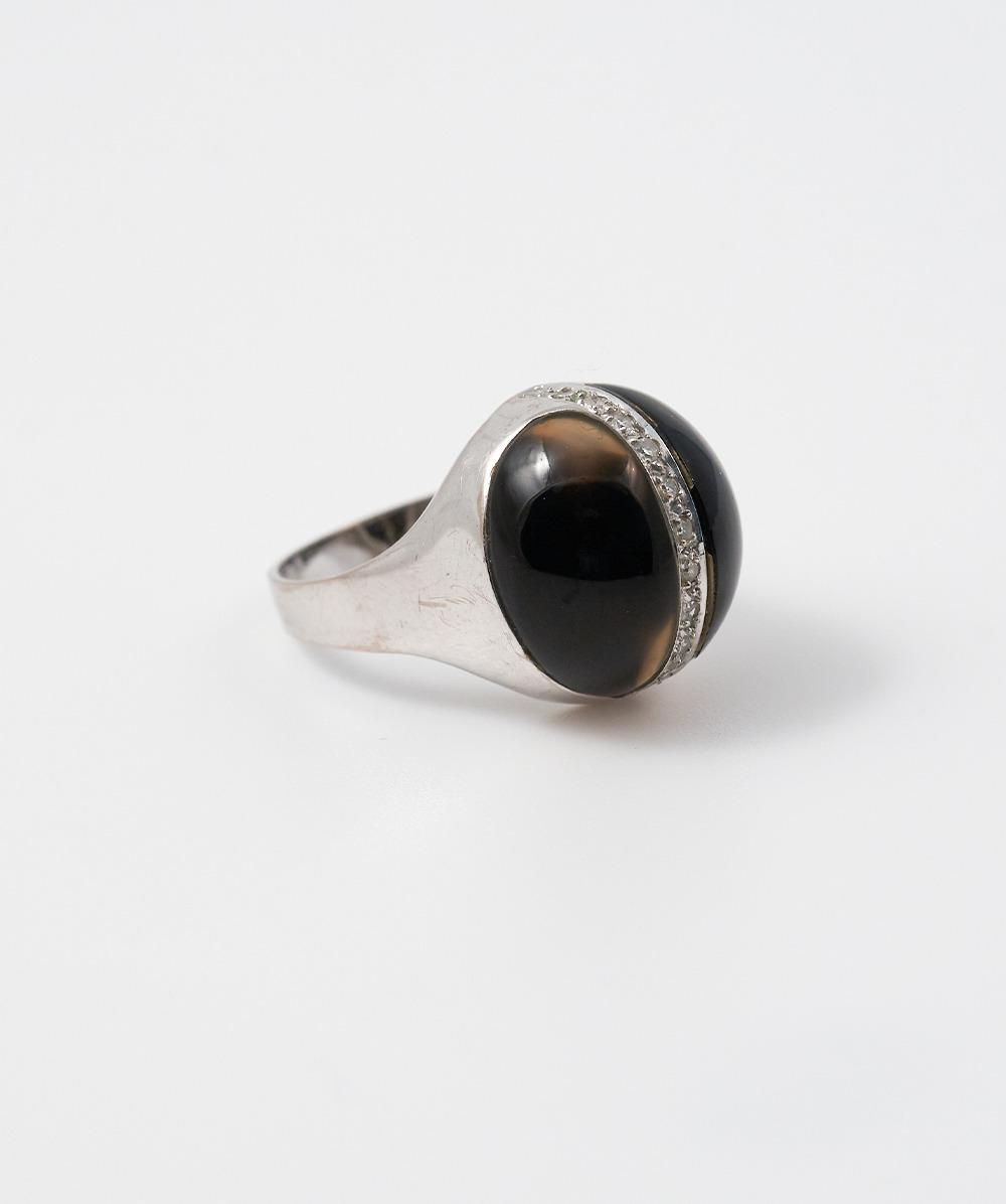 Ring Brillant Onyx 585er Weißgold