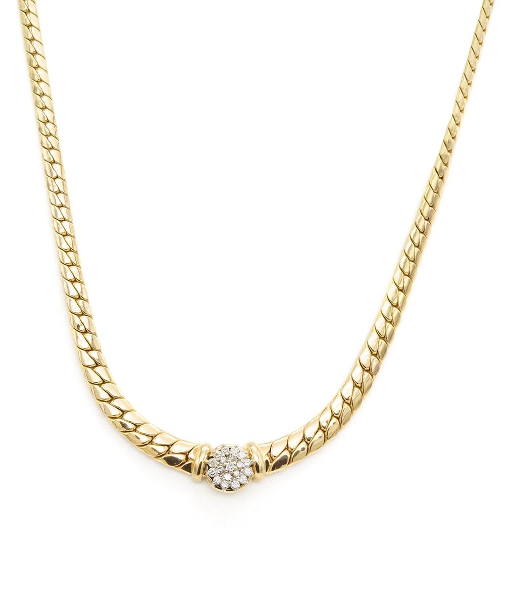 Halskette mit Brillanten 585er Gold bicolor