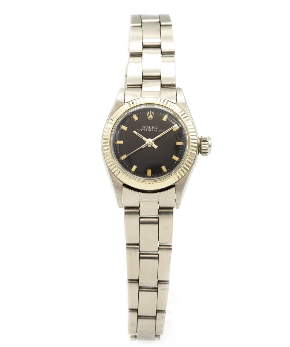 Damenuhr Rolex Oyster Perpetual Stahl 6619
