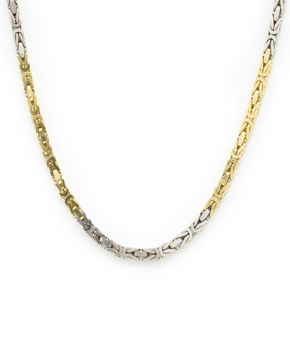 Königskette massiv 750er Gold bicolor