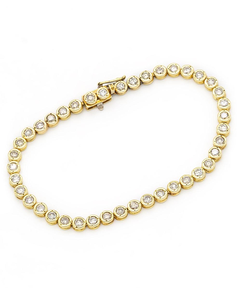 Tennisarmband mit Brillanten 585er Gold