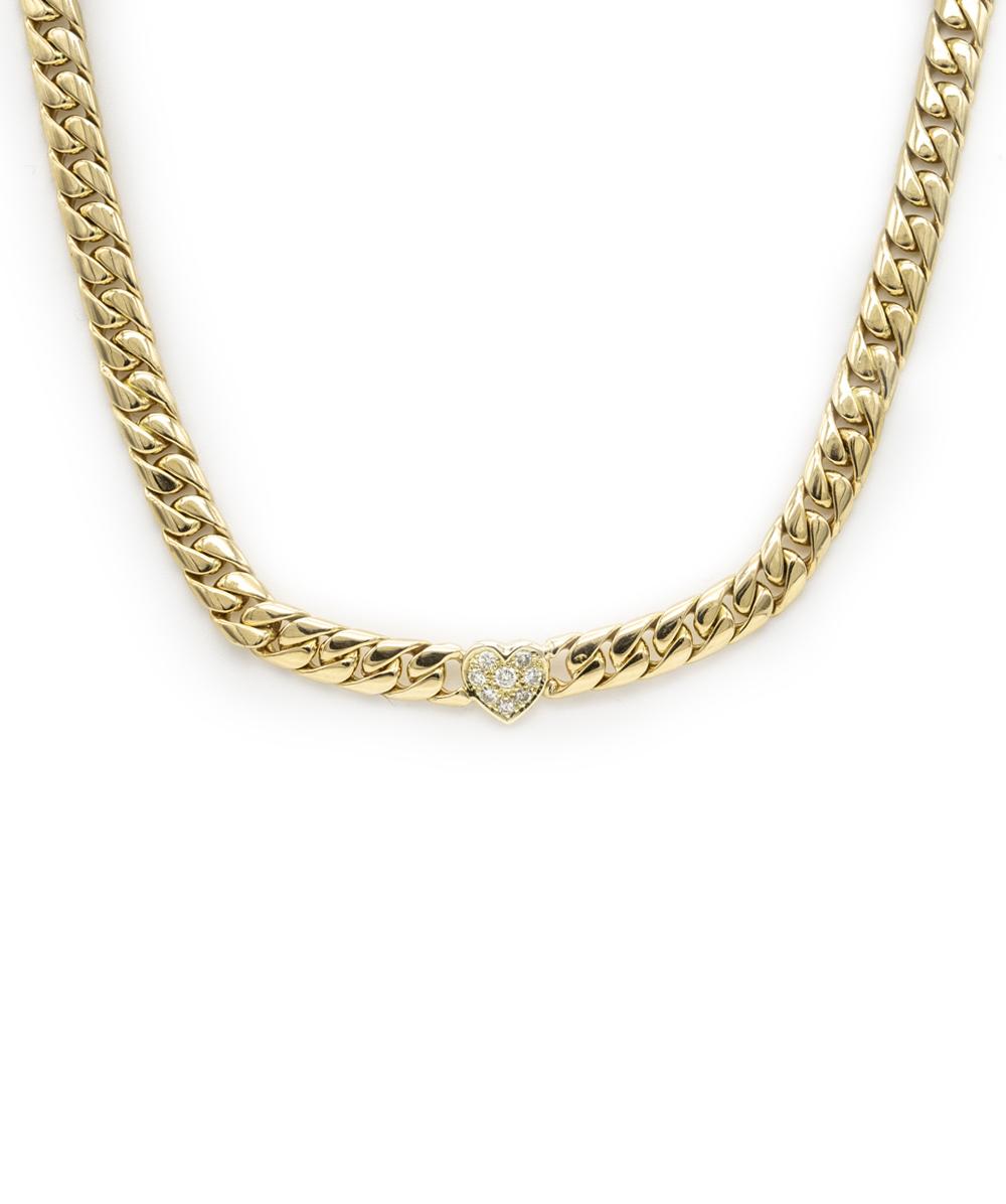 Collier mit Brillanten 750er Gold