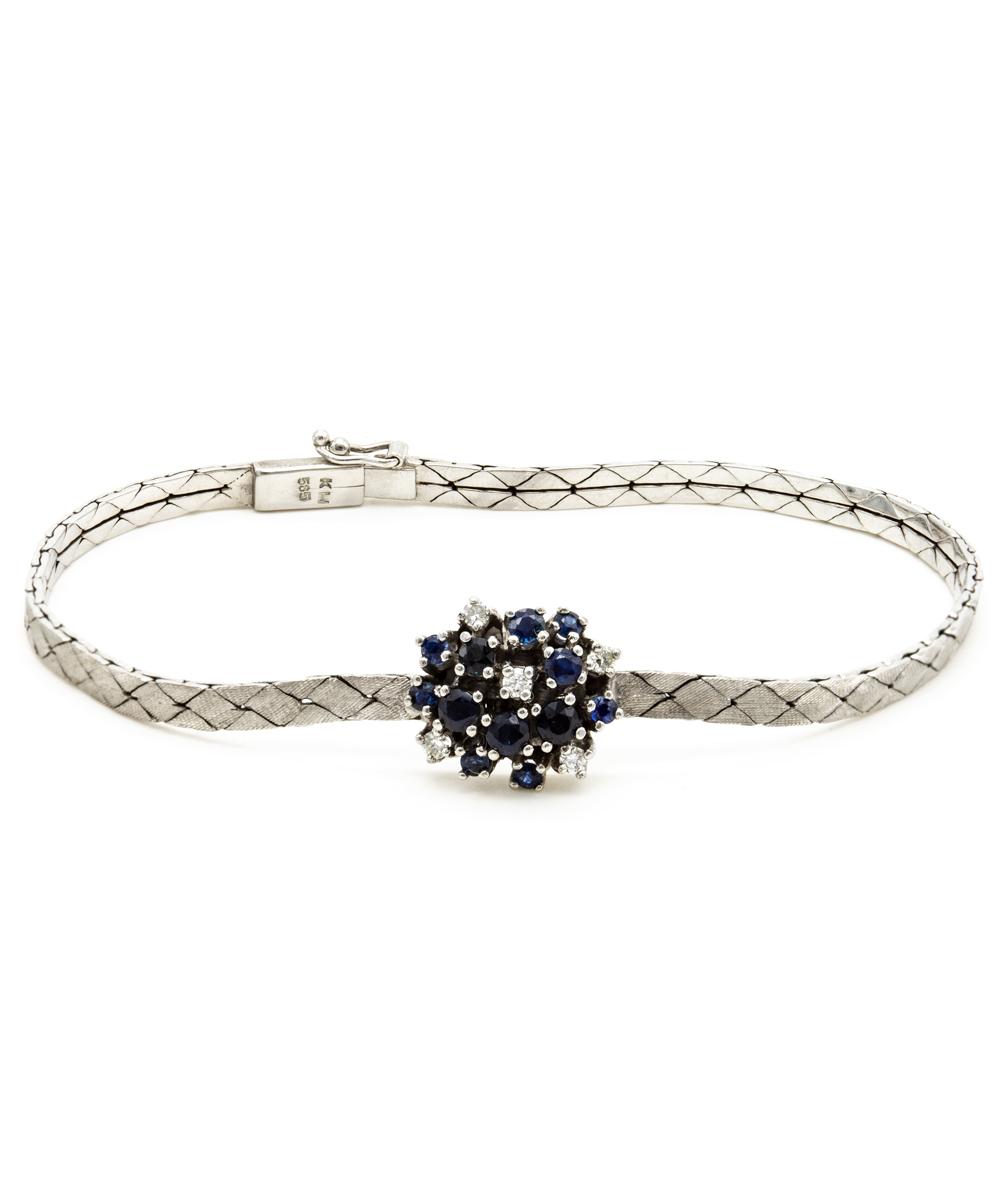 Armband Brillant Safir 585er Gold