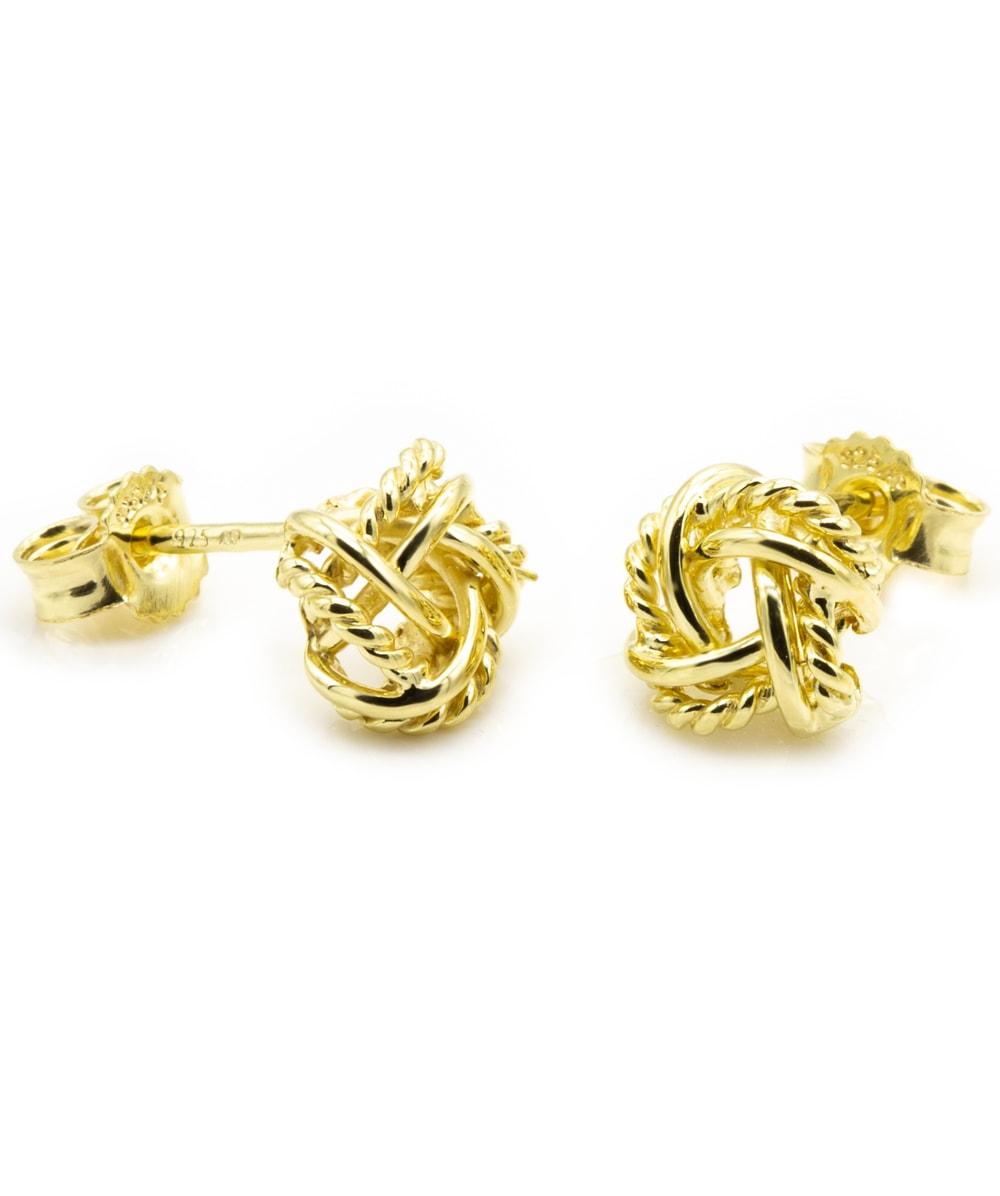 Ohrstecker Knoten 925er Silber vergoldet