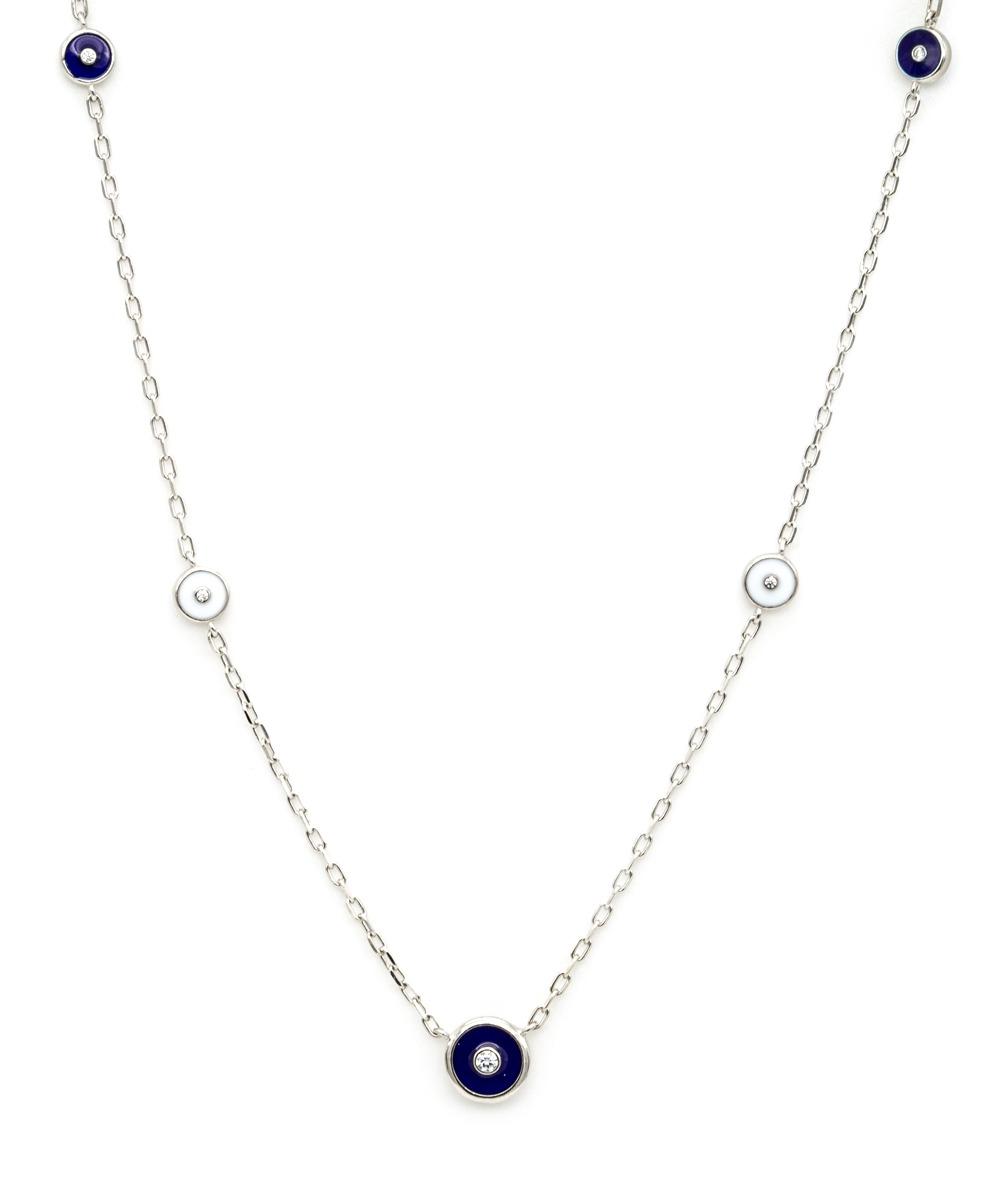 Halskette Schmucksteinen 925er Silber