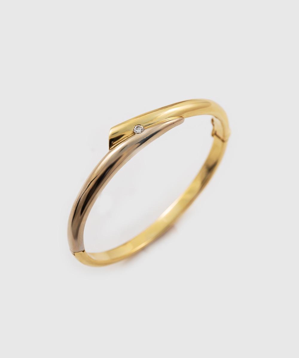 Armspange Brillantsolitär 750er Gold bicolor