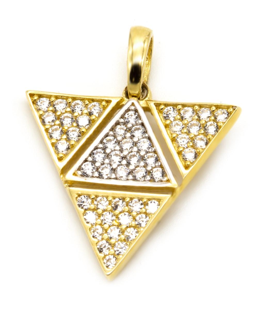 Anhänger Dreieck 585er Gold