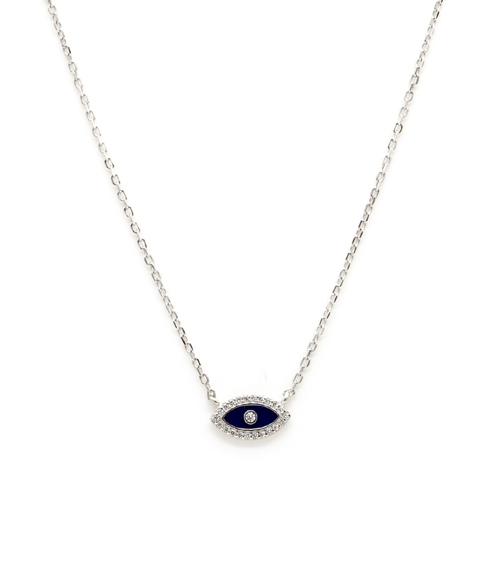 Halskette Zirkonia Auge 925er Silber