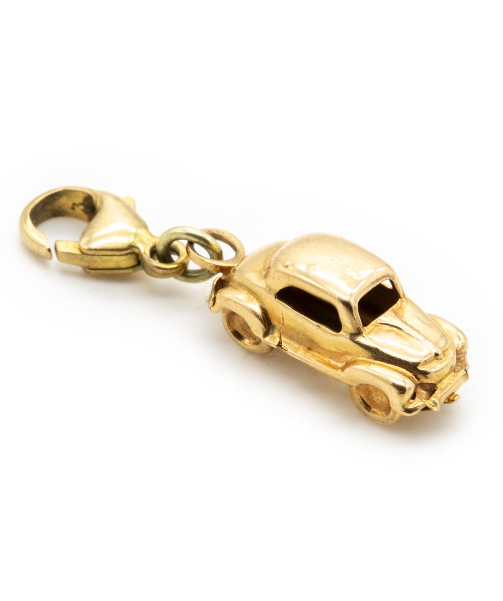 Anhänger Auto 750er Gold