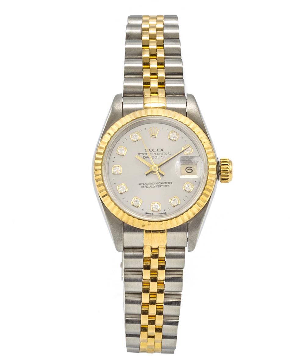 Damenuhr Rolex Lady Date Just Referenz: 69173