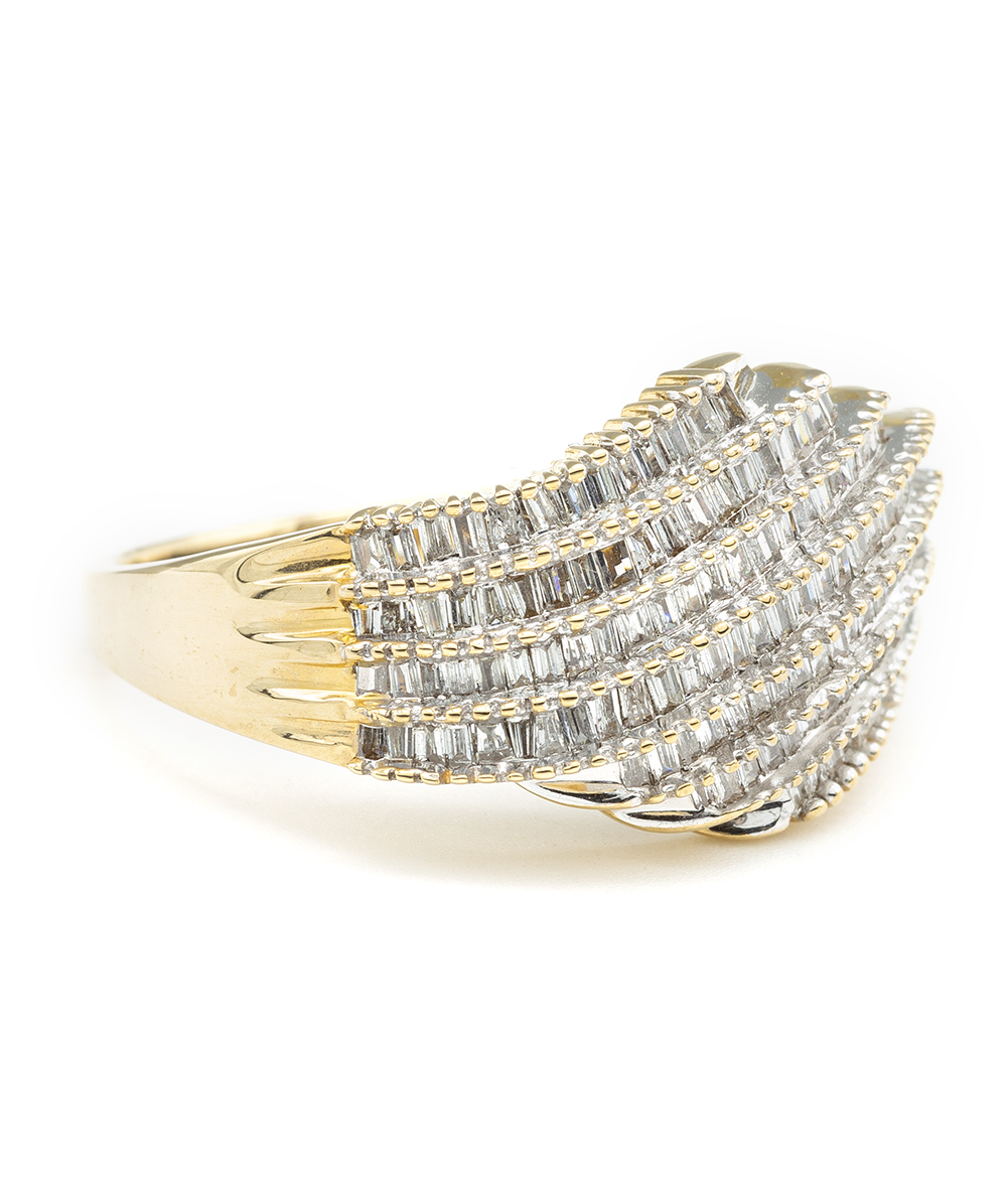 Ring mit Baguett Diamanten 585er Gold