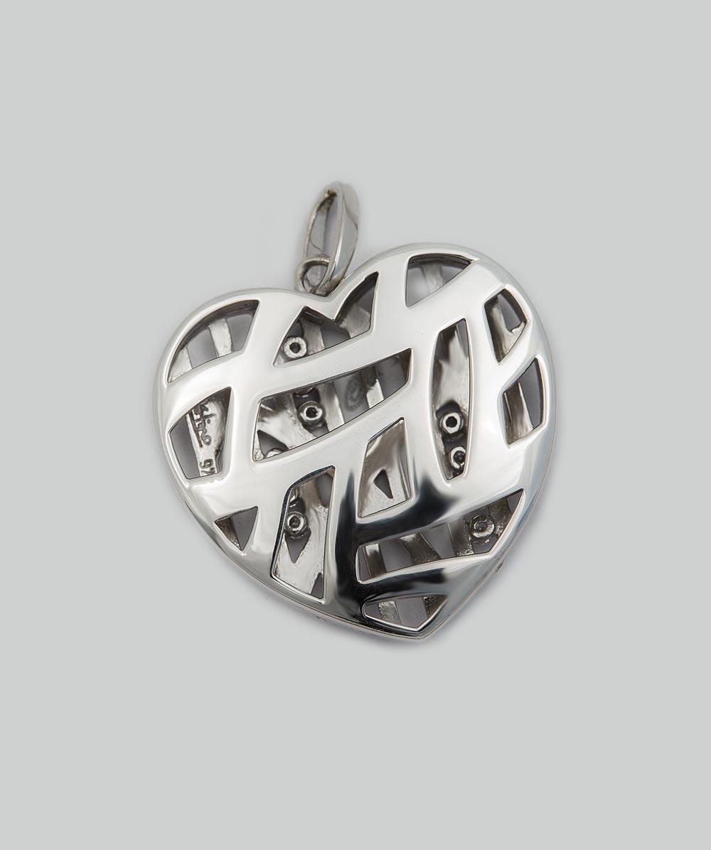 Anhänger Zirkonia Herz 925er Silber
