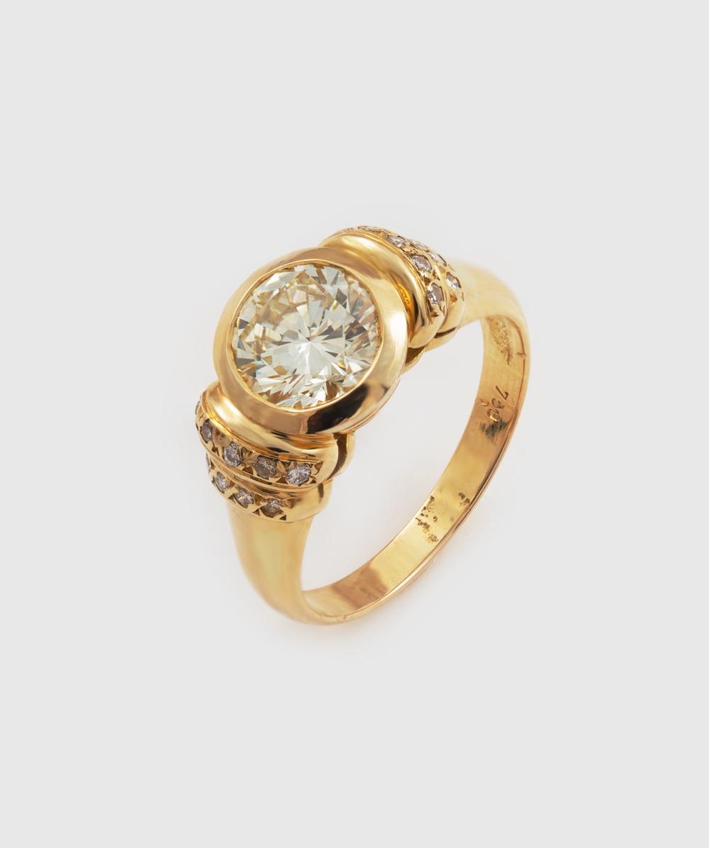 Ring Brillant 750er Gelbgold Expertise