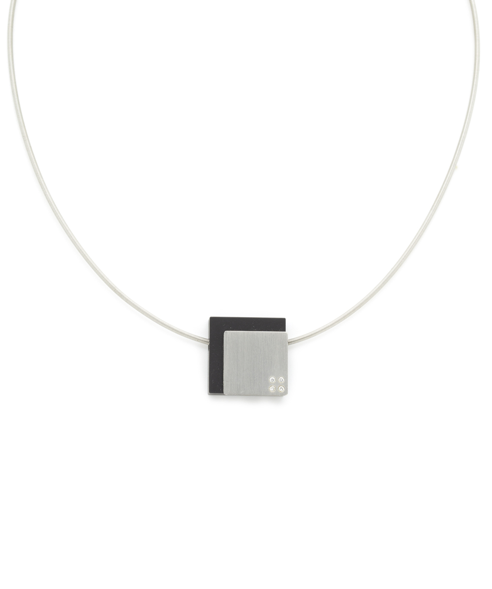 "Collier ""Bunz Design"" Brillant  950er Platin"