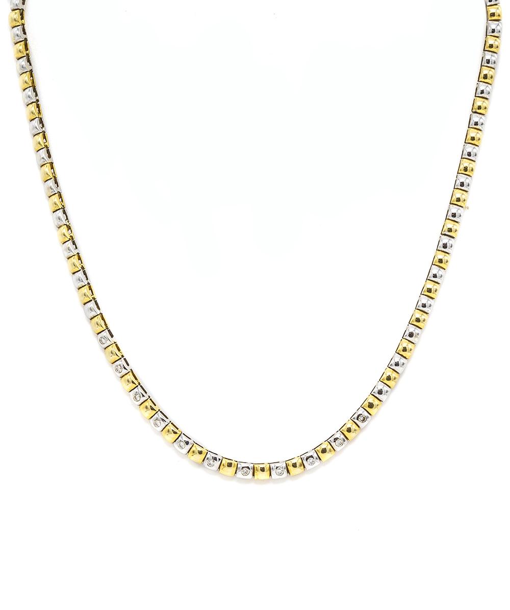 Halskette mit Brillanten 750er Gold Bicolor