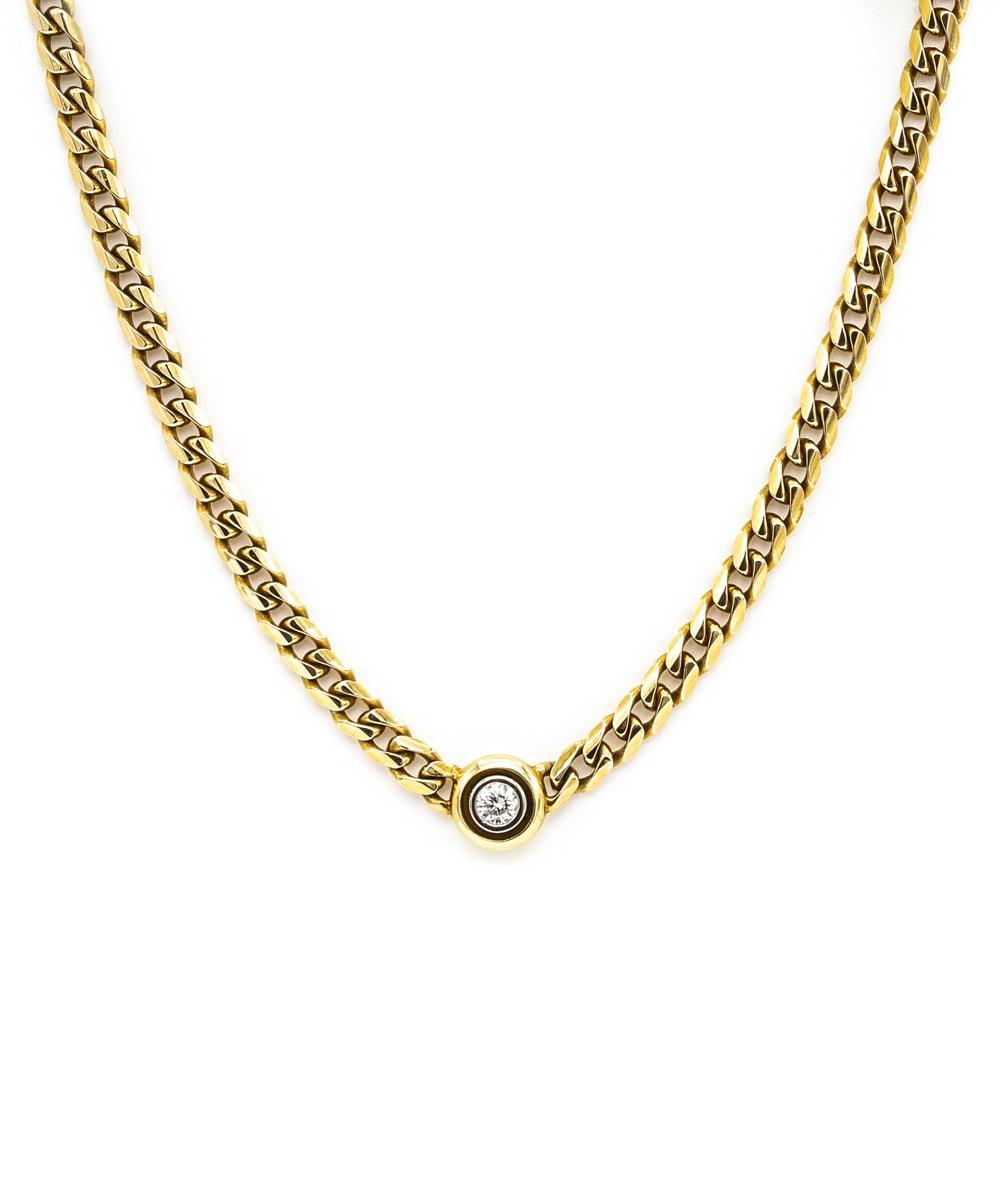 Collier Brillanten 585er Gold bicolor