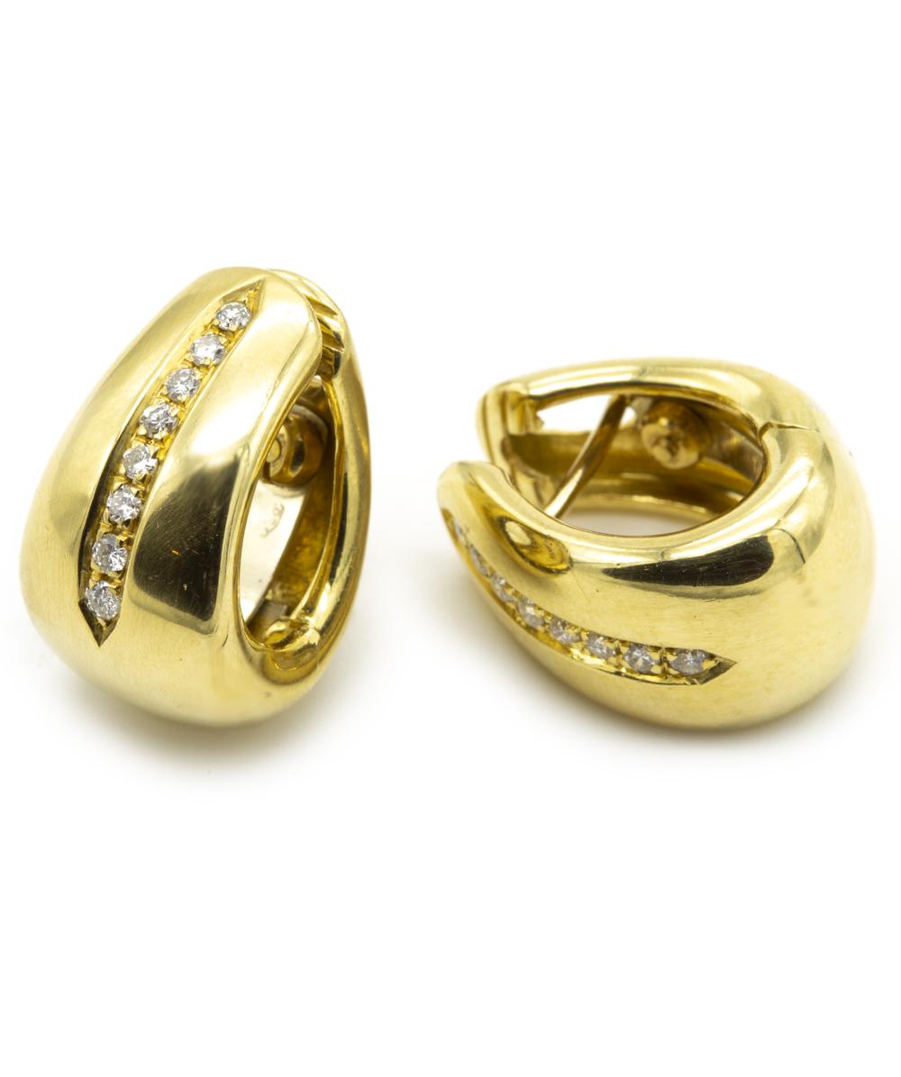 Creolen mit Brillanten 750er Gold
