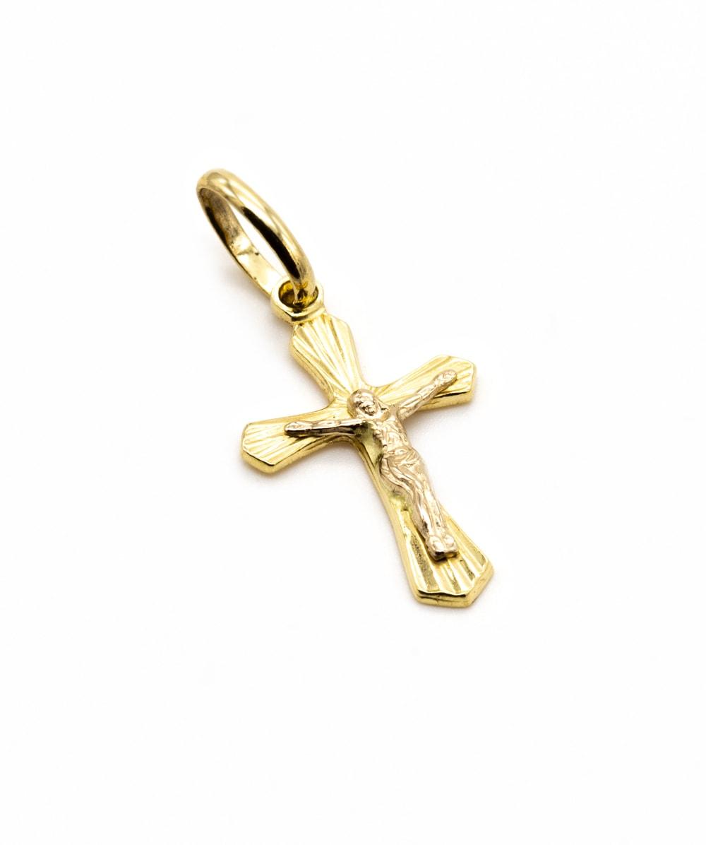 Kreuzanhänger Korpus 585er Gelbgold