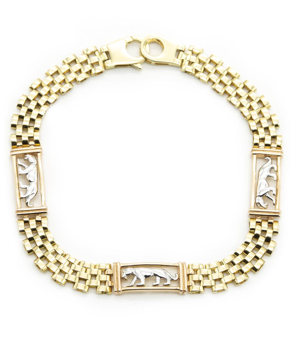Armband Panther 585er Gold Bicolor