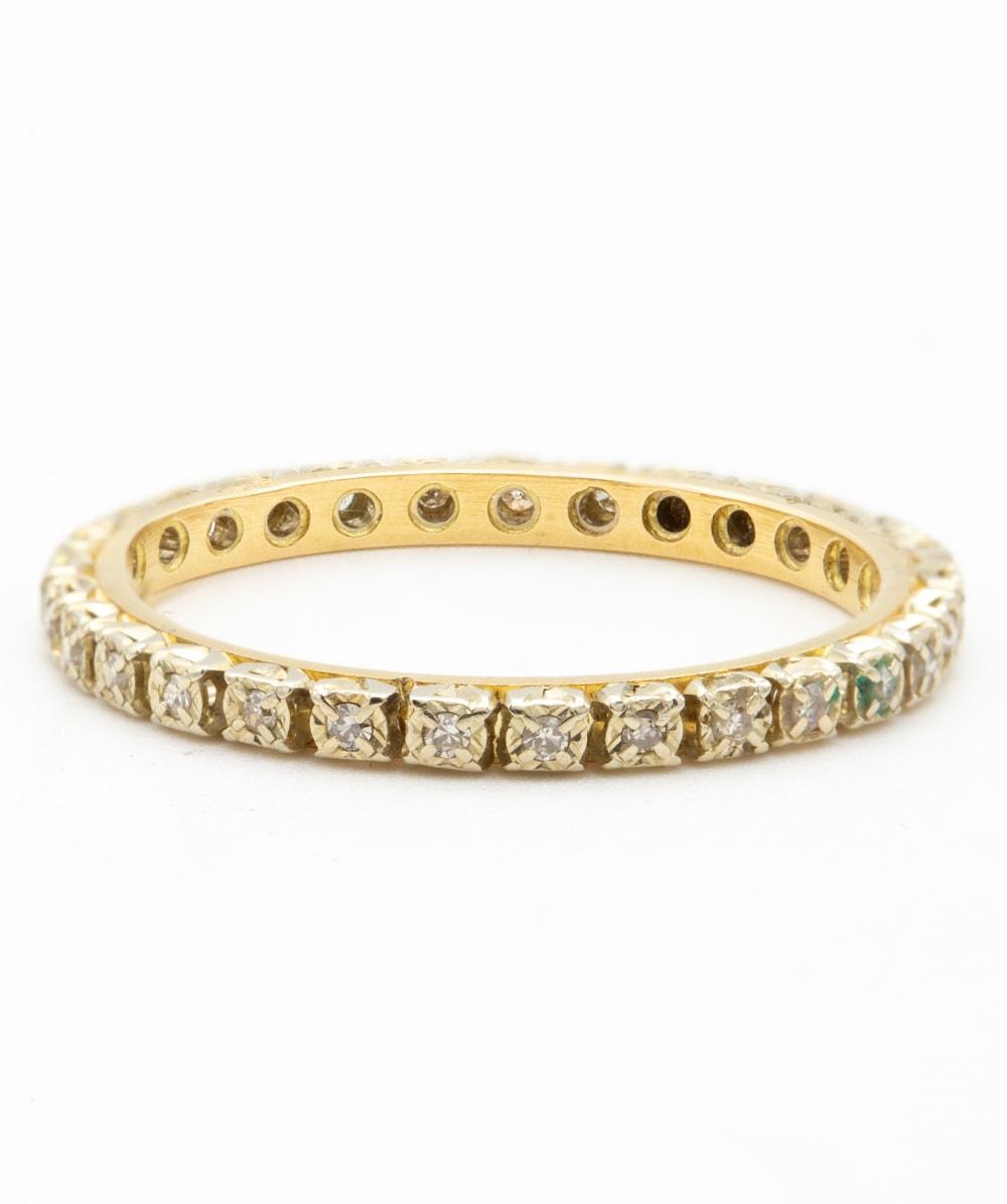 Memoirering Diamant 750er Gelbgold
