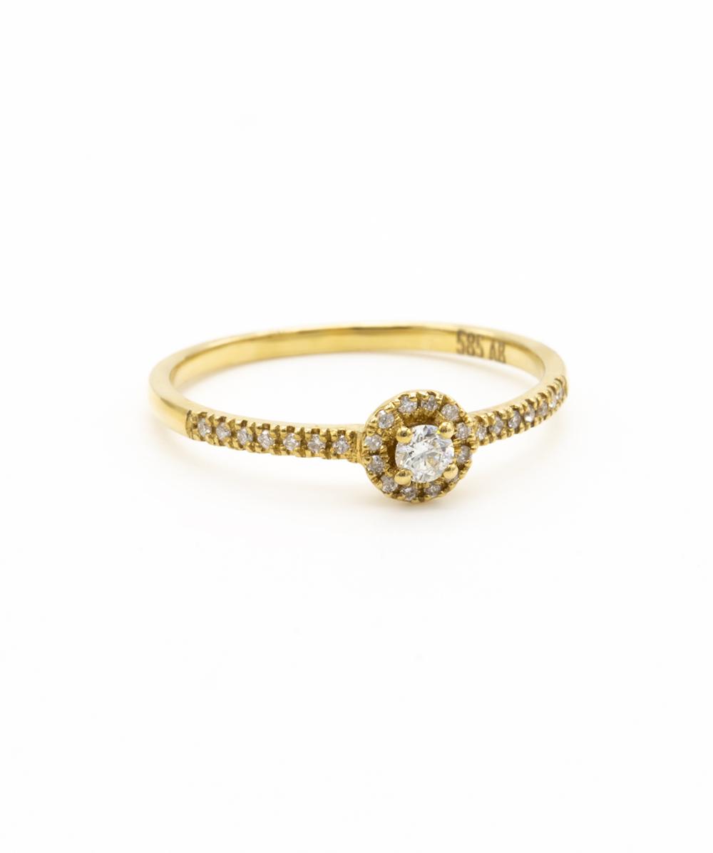 Ring Brillant 585er Gelbgold