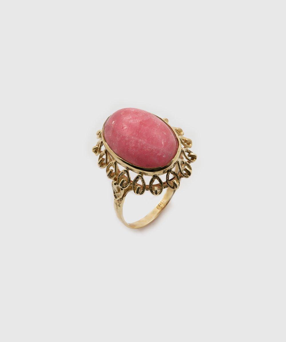 Ring Rhodochrosit 333er Gelbgold