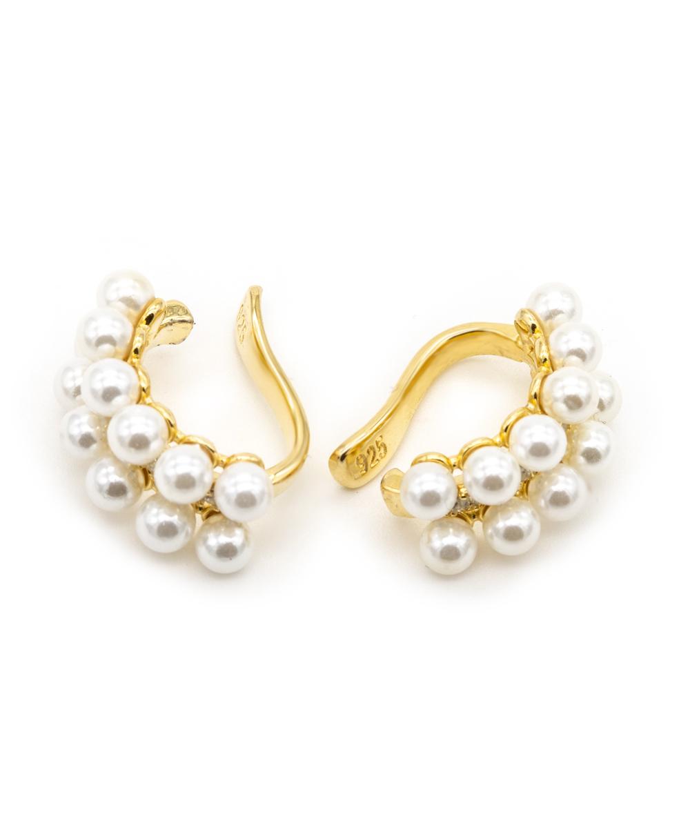 Creolen mit Perlen 925/- Silber vergoldet