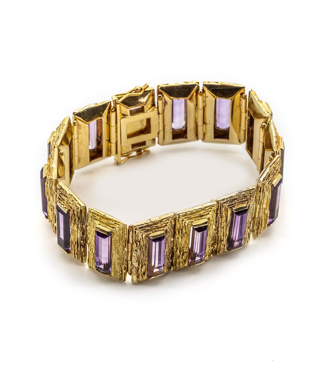 Armband mit Amethysten 750er Gold