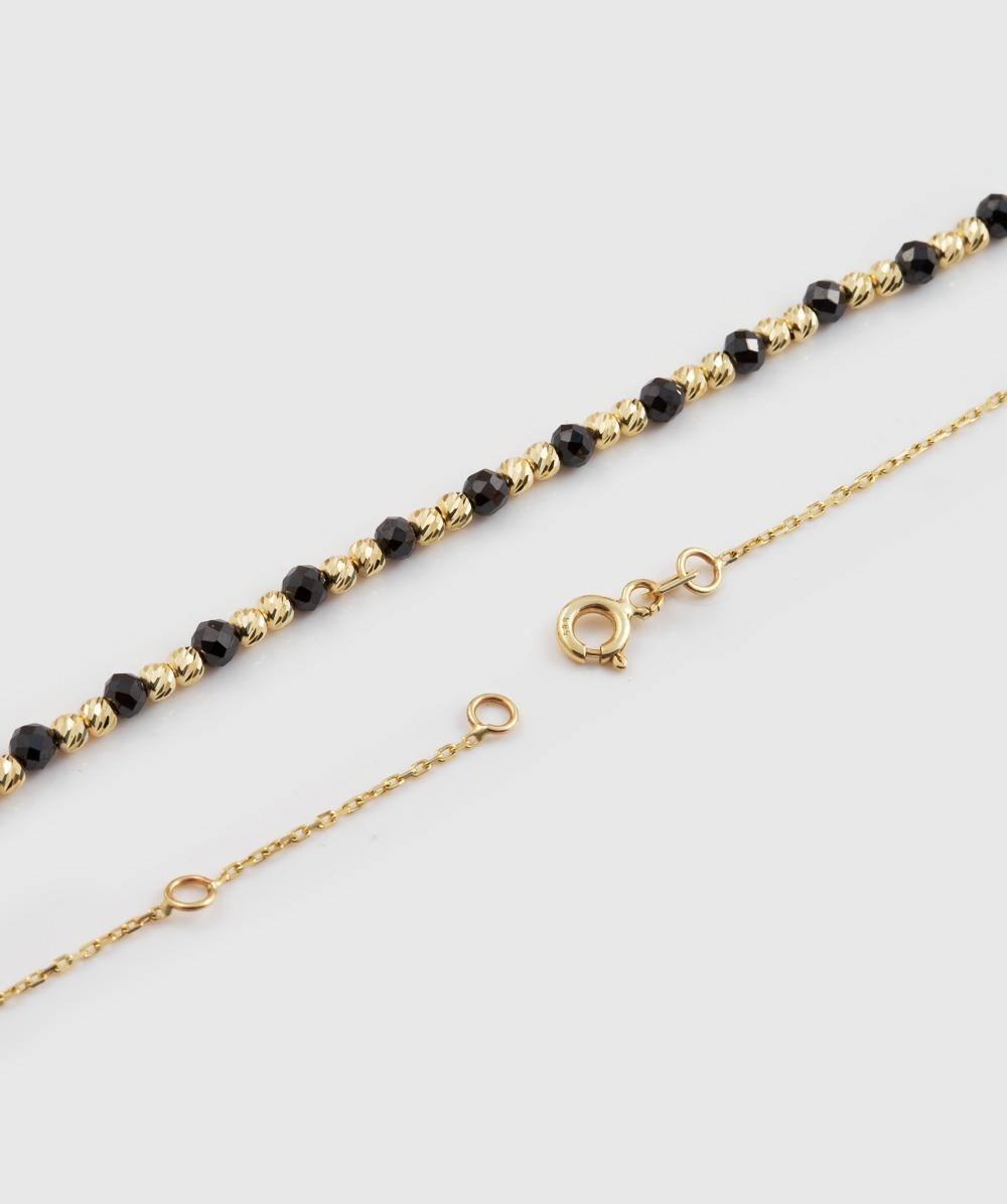 Kette  schwarzen Zirkonias 585er Gold