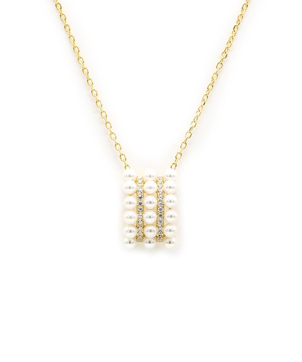Collier Perle 925er Silber vergoldet