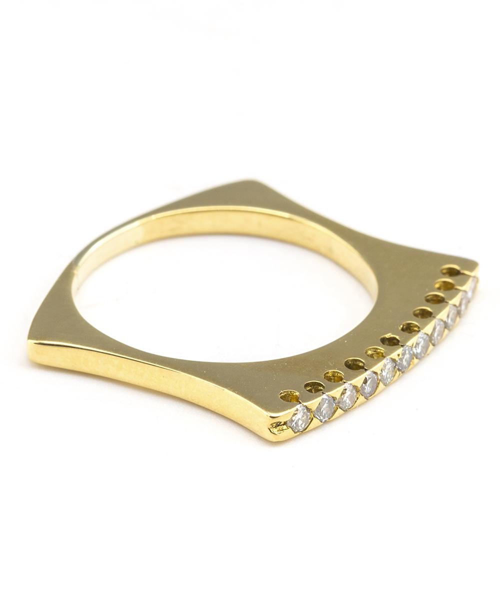 Ring mit Brillanten 750er Gelbgold