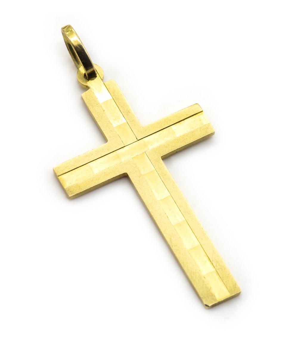 Anhänger Kreuz 333er Gelbgold