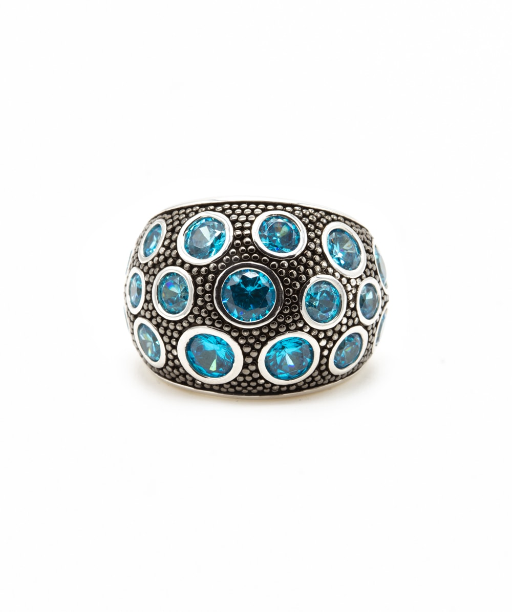 Ring Blautopas 925er Silber