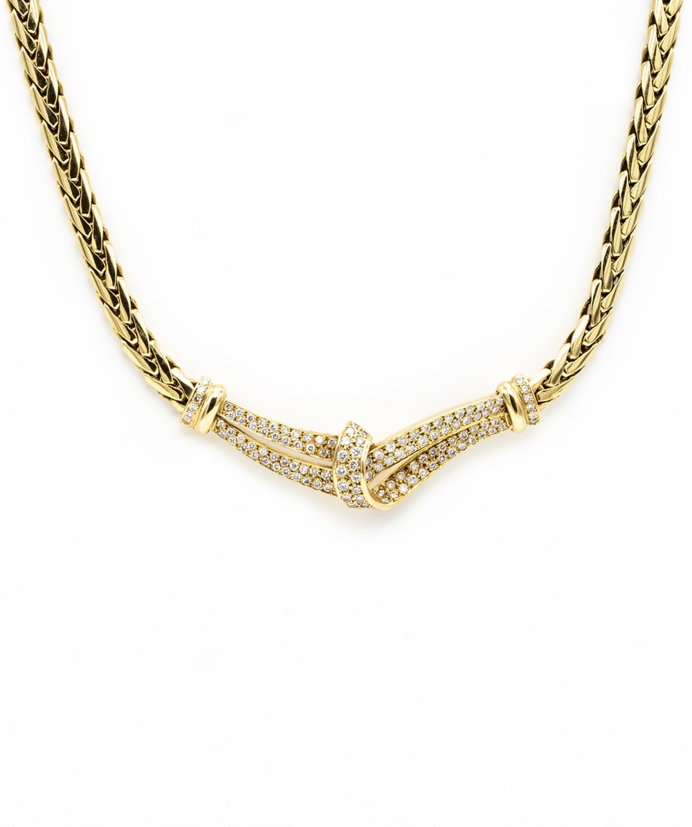 Collier Brillanten 750er Gold