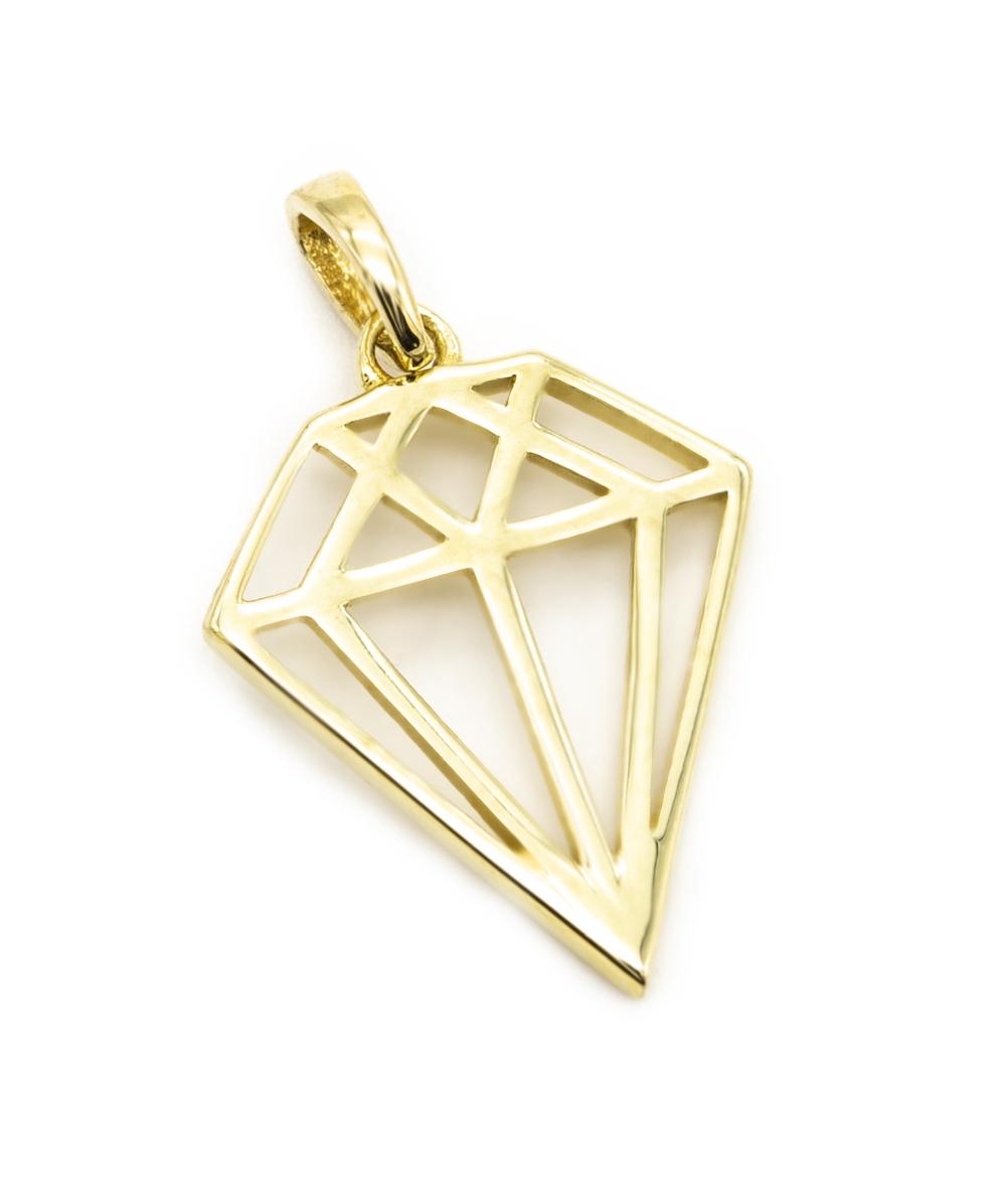 """Anhänger """"Diamant"""" 333er Gelbgold"""
