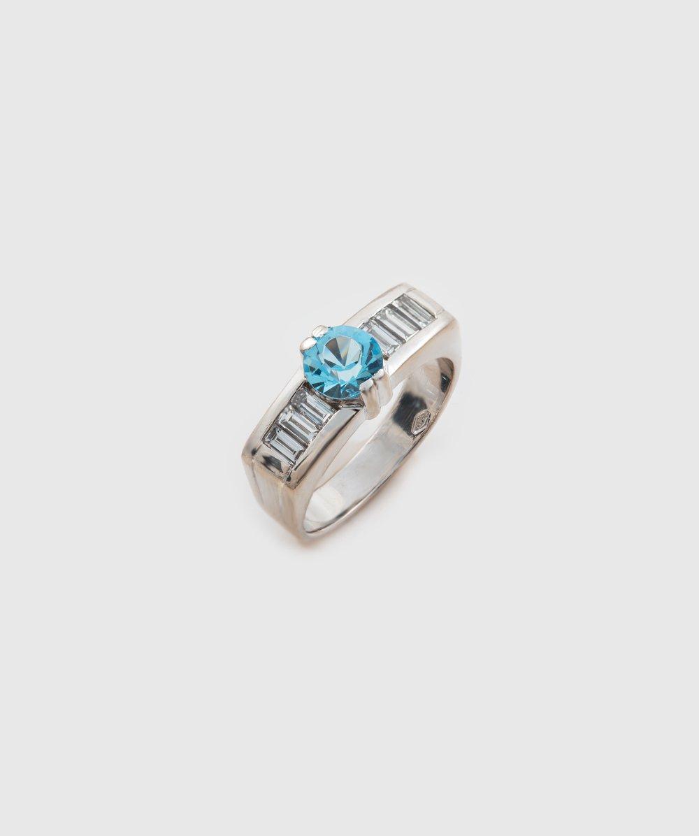 Ring Brillant 585er Weißgold