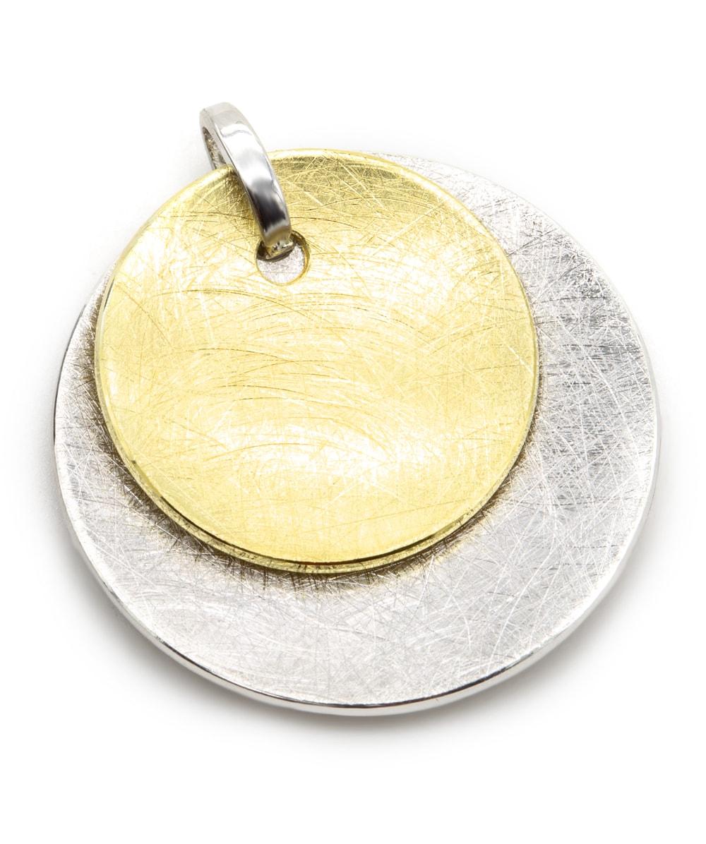 Anhänger 925er Silber vergoldet bicolor