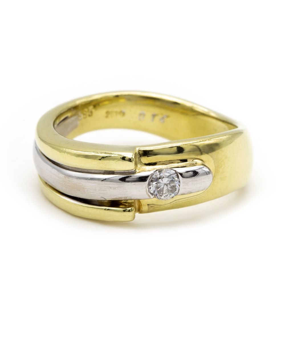 Ring Brillant 585er Gold bicolor