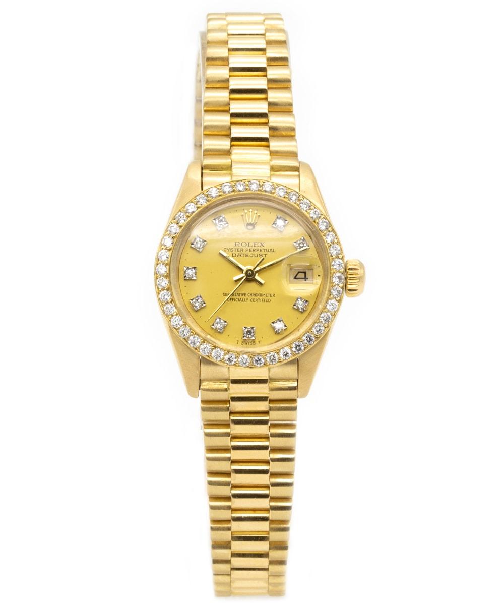 Damenuhr Rolex Datejust mit Diamanten REF: 6917