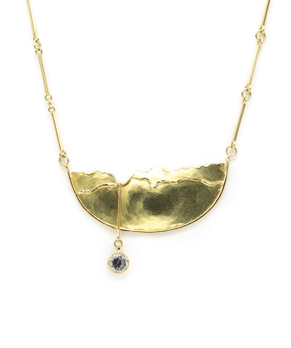 Halskette Zirkonia 585er Gelbgold
